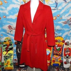 Pendleton coat Red Vintage Wool Coat size 10